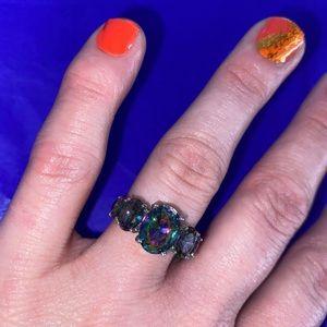 NWT! Rainbow Crystal Stone Bling Ring!